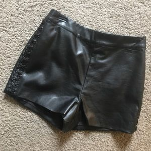 TOP SHOP | leather shorts